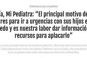 Entrevista a Lucía, mi pediatra en Ser Padres
